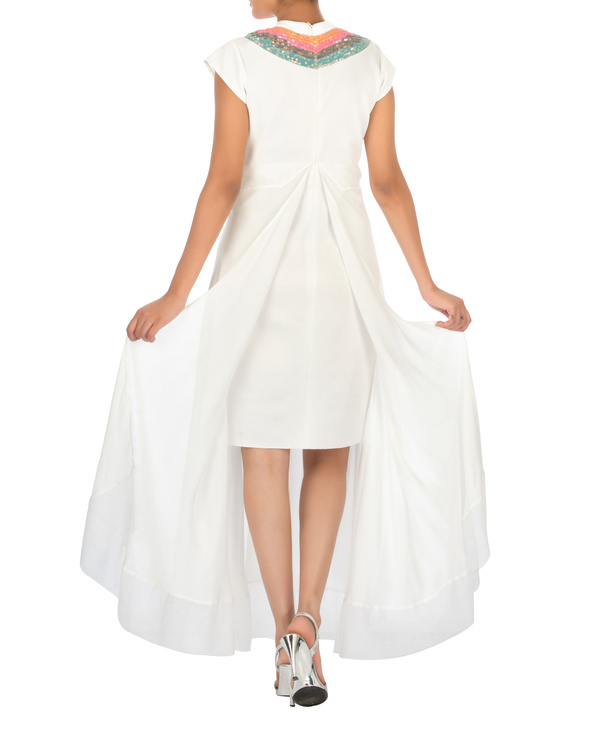 Two panelled white gown 1