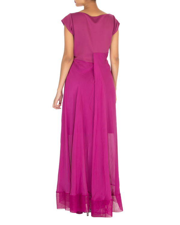 Three panelled purple gown 1