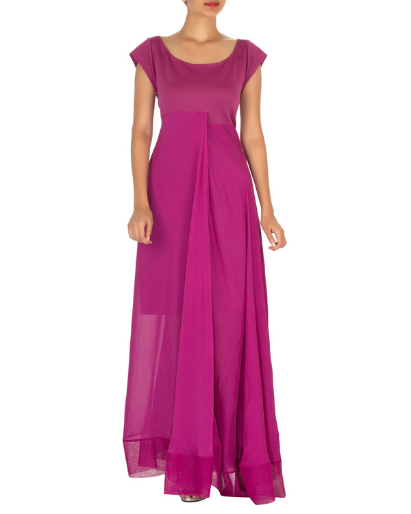 Three panelled purple gown 2