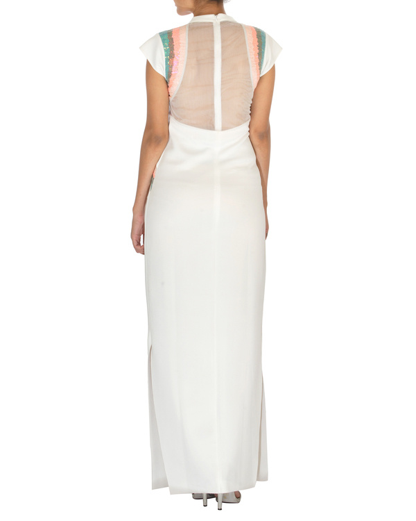 Straight fit white gown 1