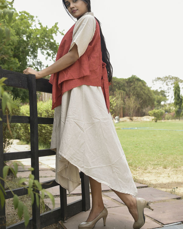 Red and ivory fly maxi 2