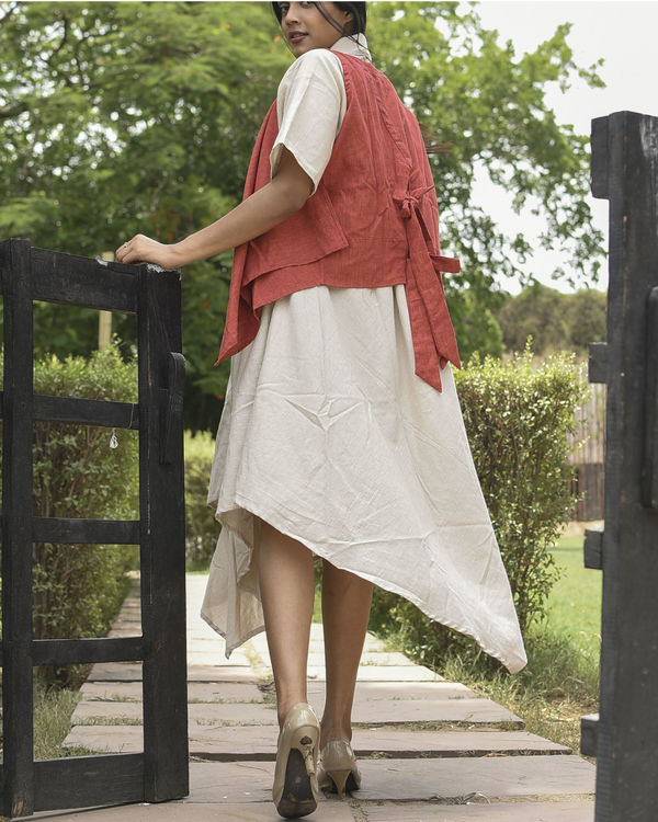 Red and ivory fly maxi 1
