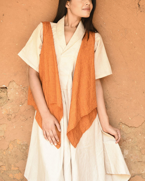 Orange and ivory fly maxi 2
