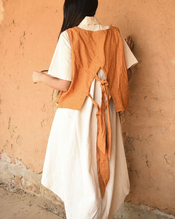 Orange and ivory fly maxi 1