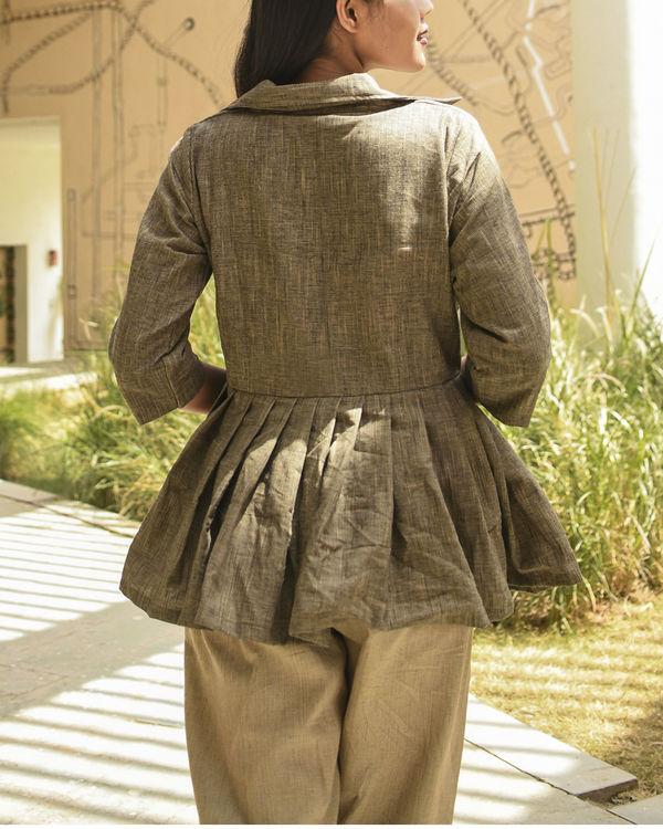 Charcoal jacket top 2