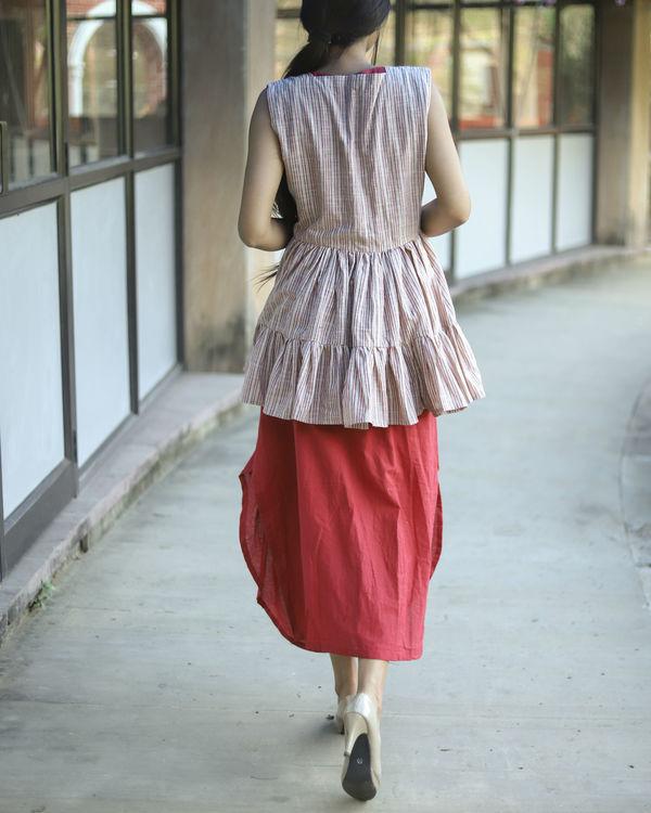 Brick frill jacket dress 2