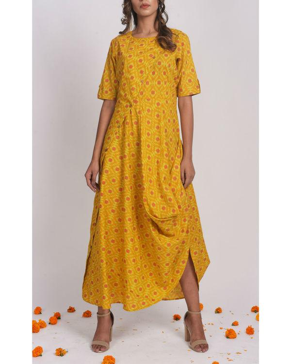 Mustard Drape Dress 2