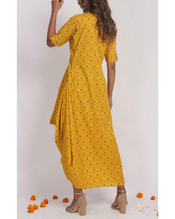 Mustard Drape Dress 1
