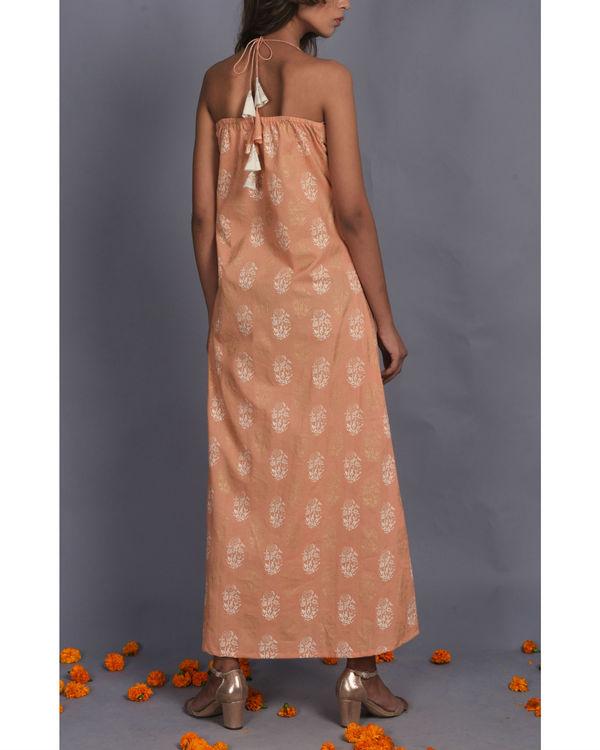Peach Halter Dress 1