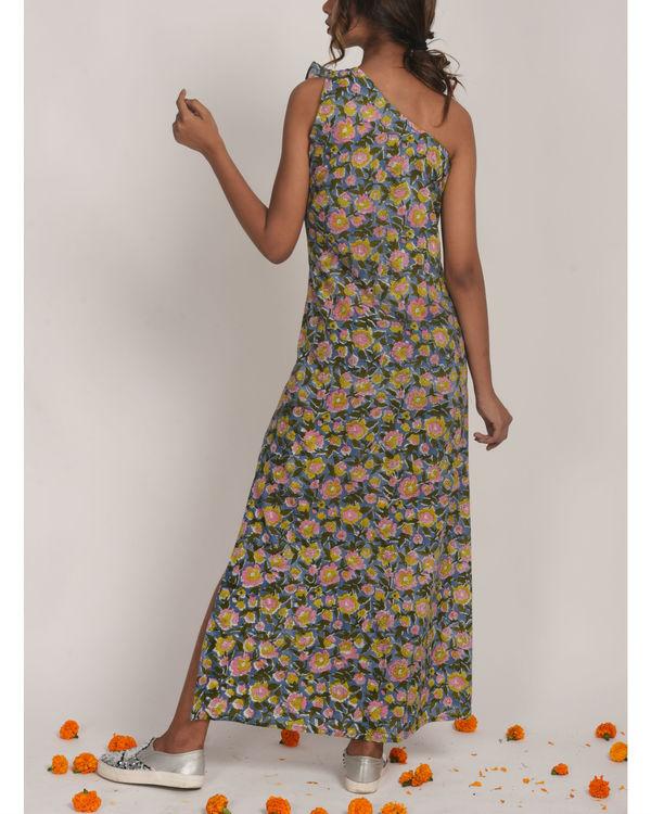Floral One shoulder Dress 1