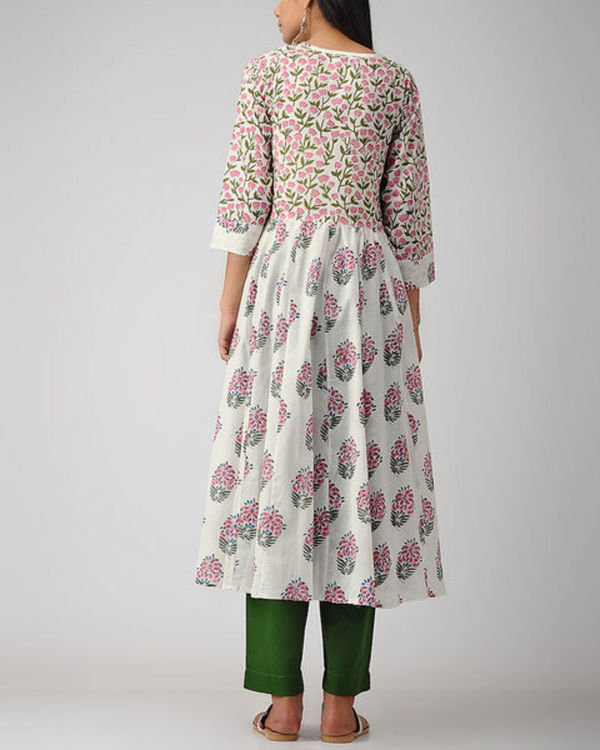 Floral gathered kurta 1