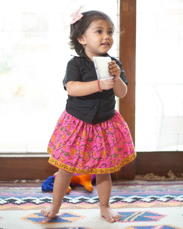 Pink skirt set 3