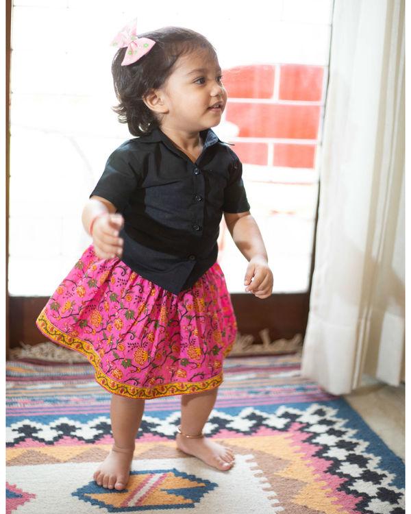 Pink skirt set 2