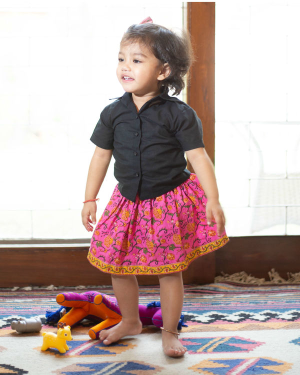Pink skirt set 1