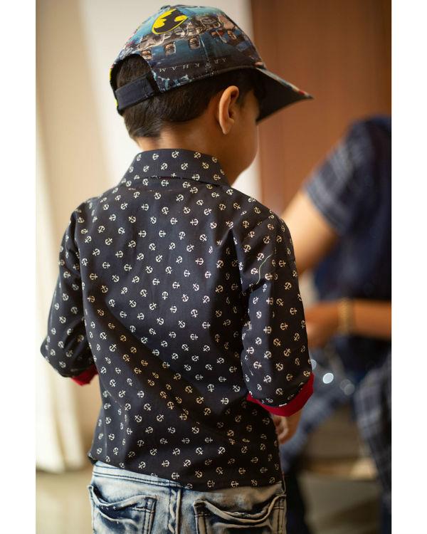 Navy anchor shirt 1