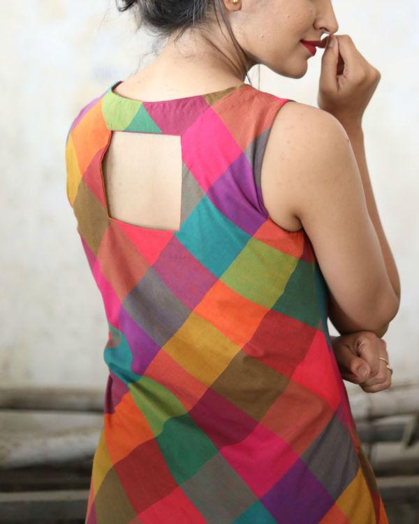 Checks asymmetric dress 1