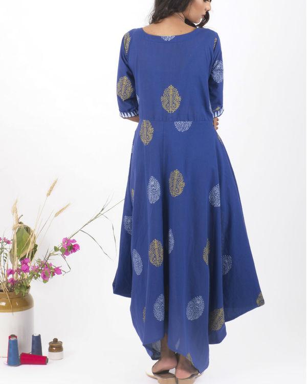 Blue hand block print dress 2
