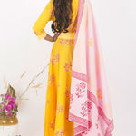 Thumb heyday cotton dress and dupatta set