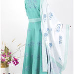 Thumb mintcreme dress and dupatta set 7