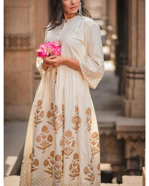 Ivory maxi dress 1