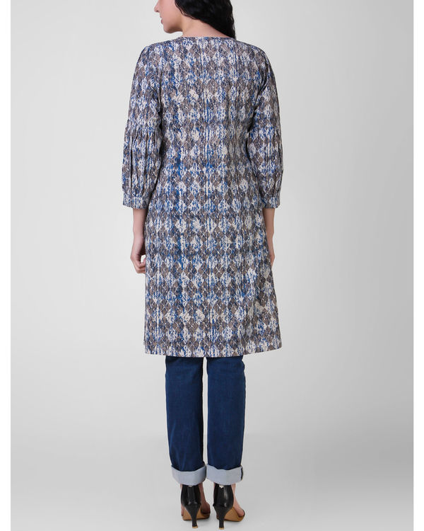 Indigo gathered tunic 1