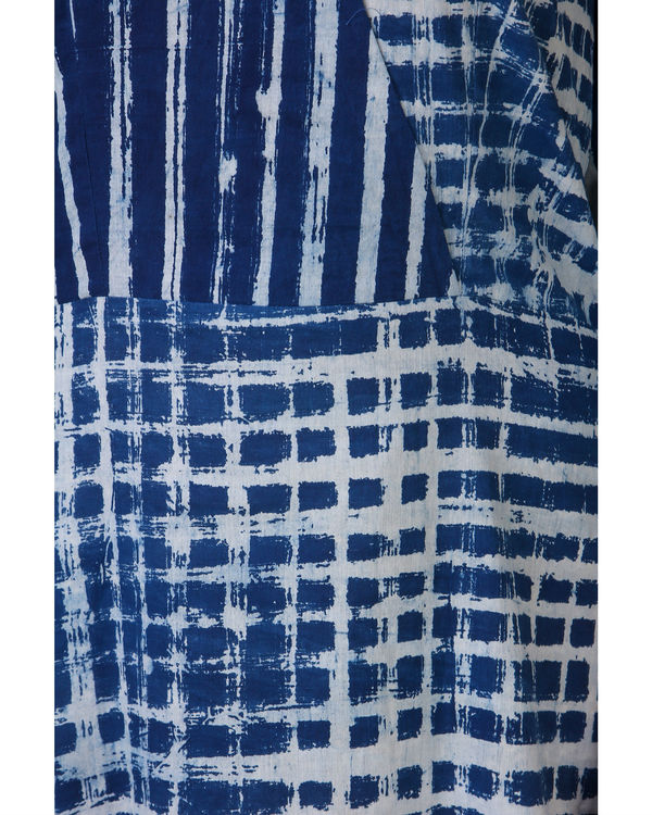 Indigo patch dress 1