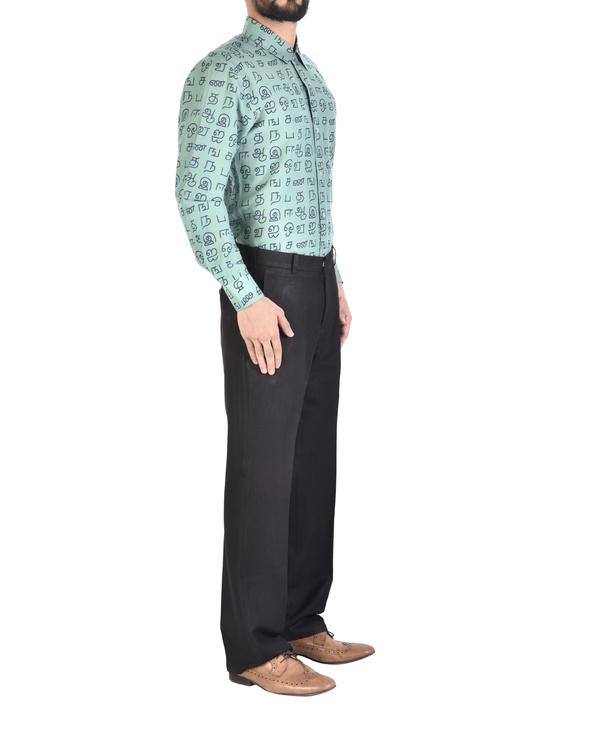 Cotton printed full-sleeves shirt 1