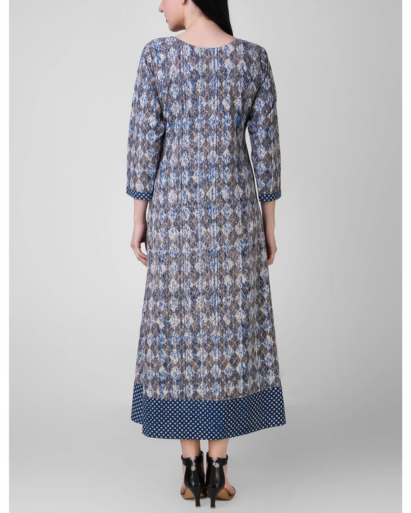 Indigo border dress 1