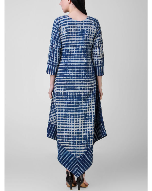 Indigo dabu asymmetric dress 1