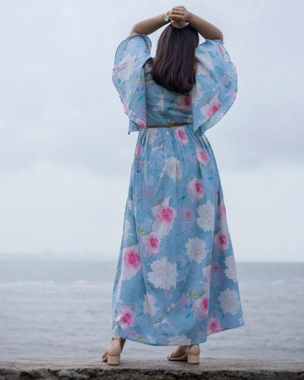 Breezy Blue Ruffle Dress 1