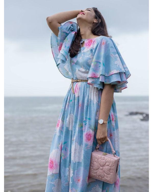 Breezy Blue Ruffle Dress 2