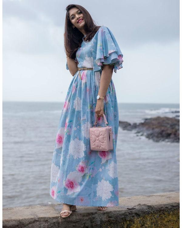 Breezy Blue Ruffle Dress 3