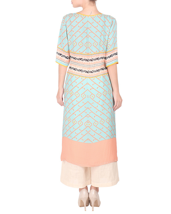 Double georgette long tunic with palazzos 2