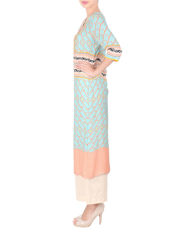 Double georgette long tunic with palazzos 3