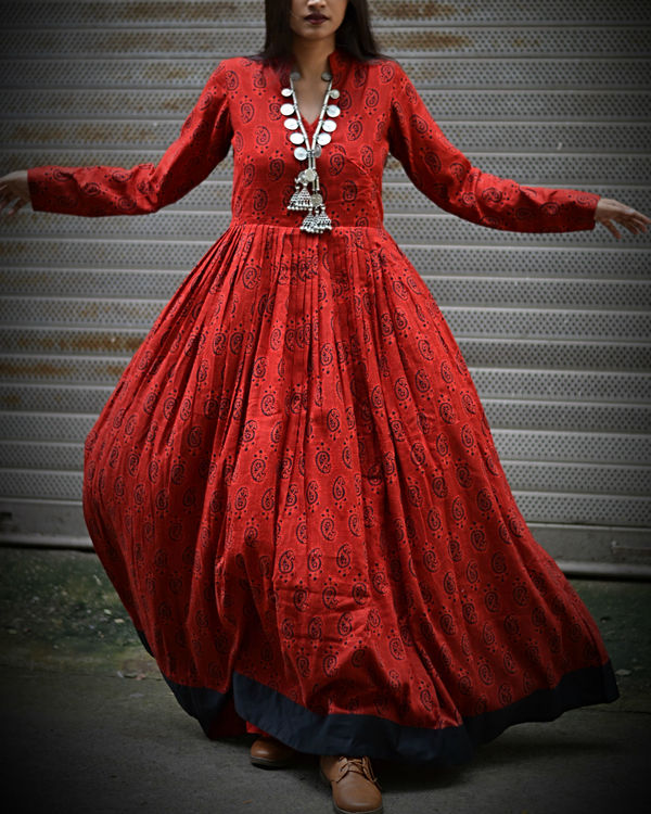 Red Printed Maxi 1