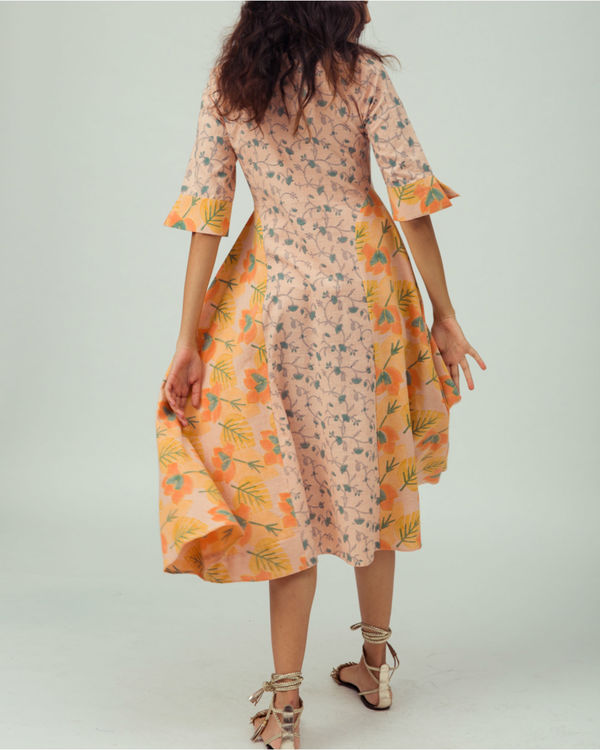 Salmon Starflower Kurta Dress 1