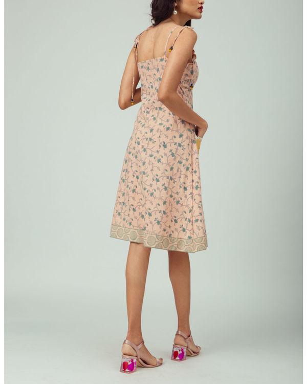 Salmon Starflower Strappy Dress 1