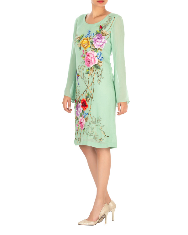 Georgette embroidered dress 2