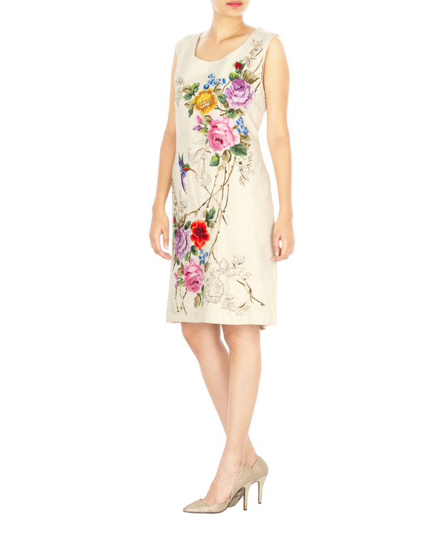 Khadi embroidered dress 2