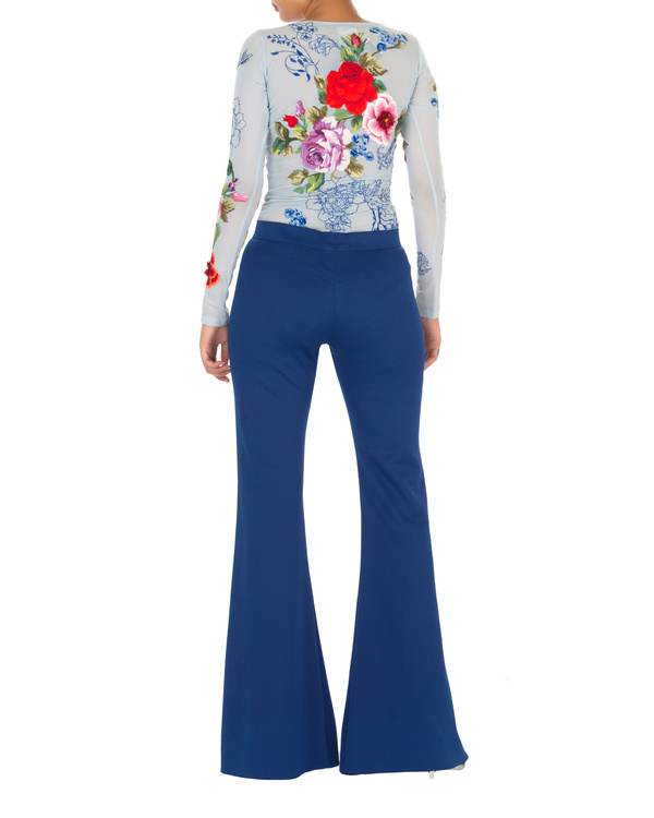 Royal blue flared trouser 1