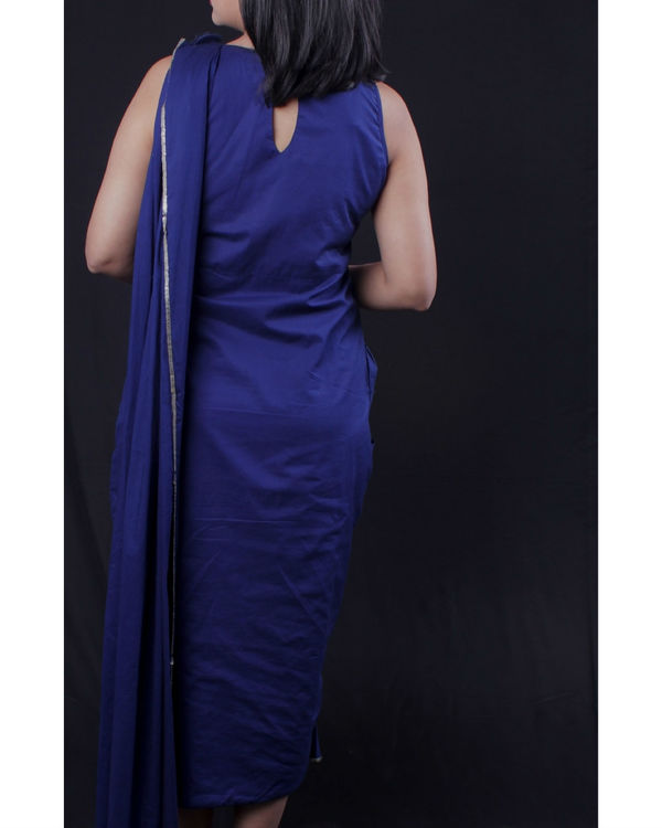 Blue sari dress 3