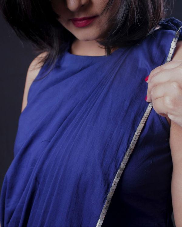 Blue sari dress 2