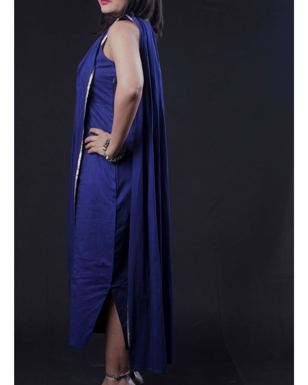 Blue sari dress 1