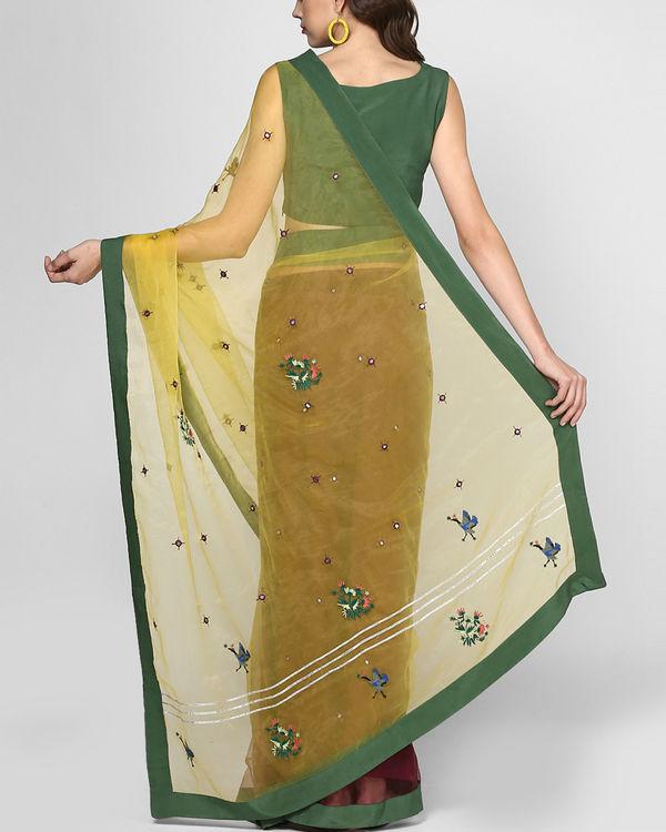 Marsala stitched sari 2