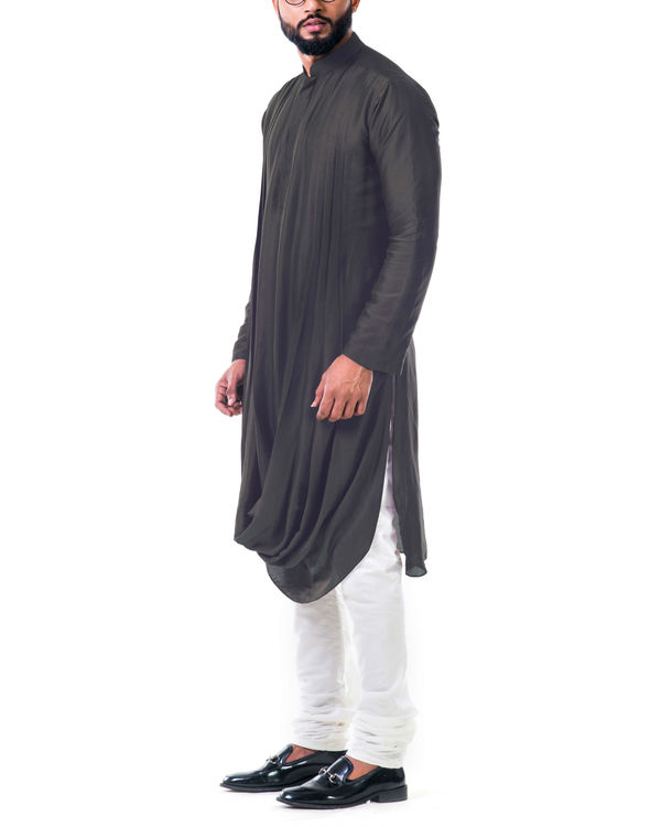 Grey double cowl kurta set 2