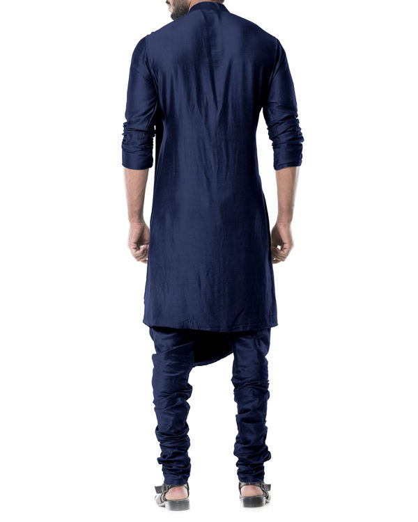 Navy blue cowl kurta set 2