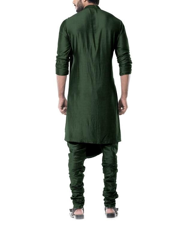 Forest green cowl kurta set 2