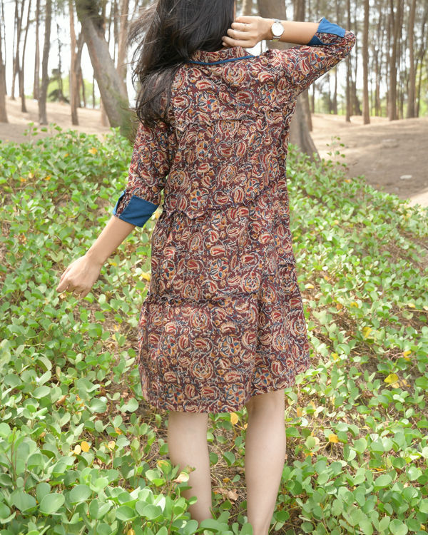 Kalamkari shirt dress 1