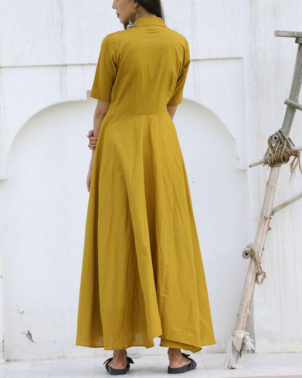 Olive flared dress 1