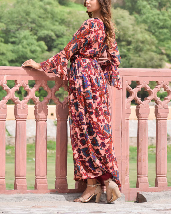 Red Georgette Dress 1